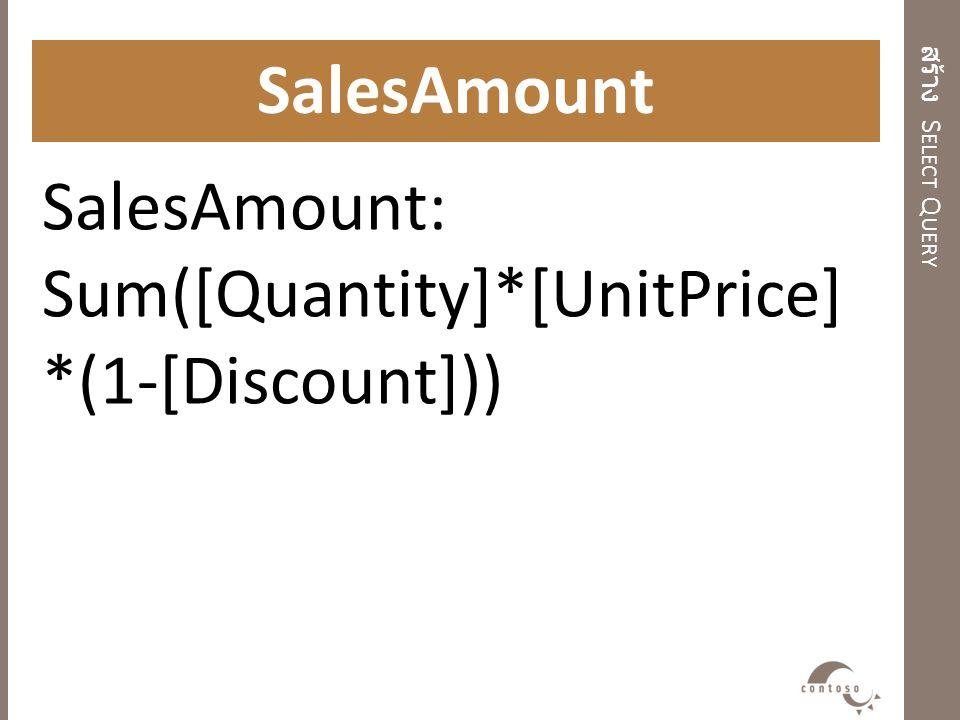 SalesAmount: Sum([Quantity]*[UnitPrice]*(1-[Discount]))